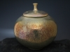 Gold Flash Lustre Lidded Vase